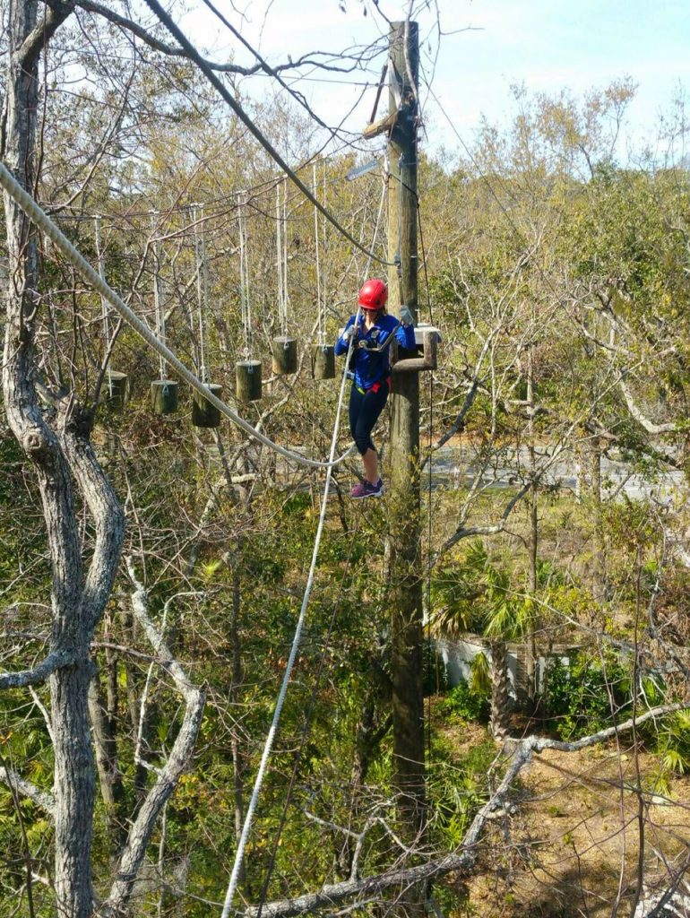 Aerial ropes course in Hilton Head