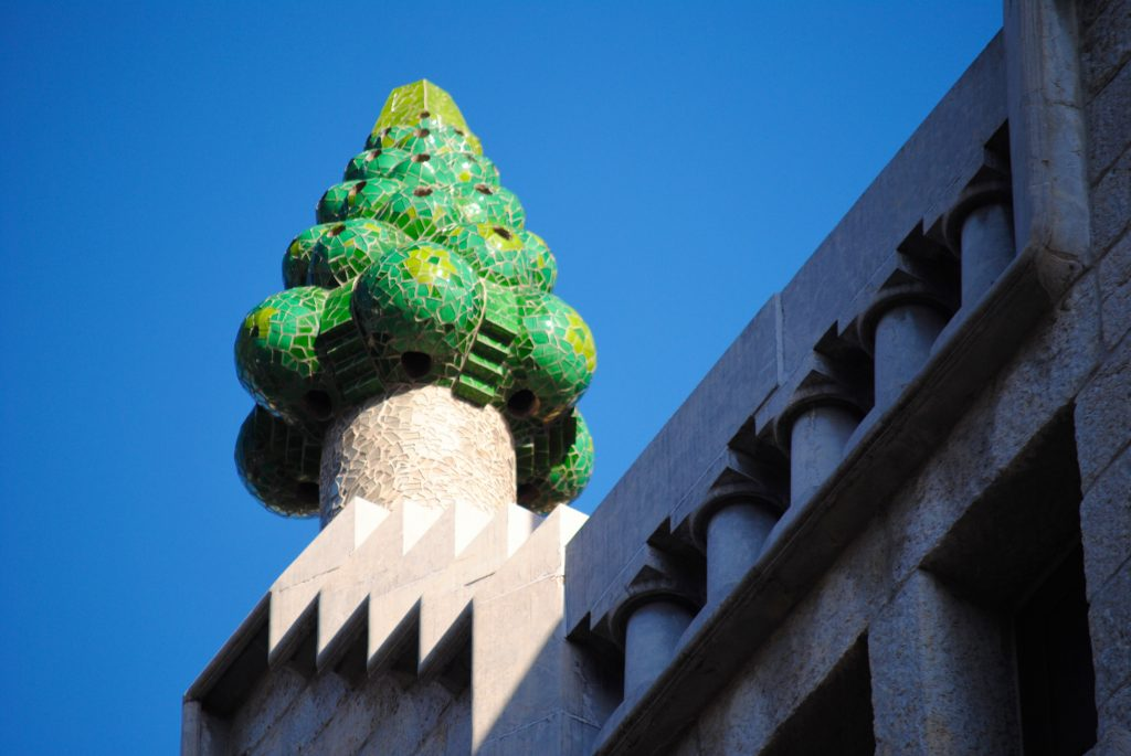 Chimney on Palau Guell, Barcelona