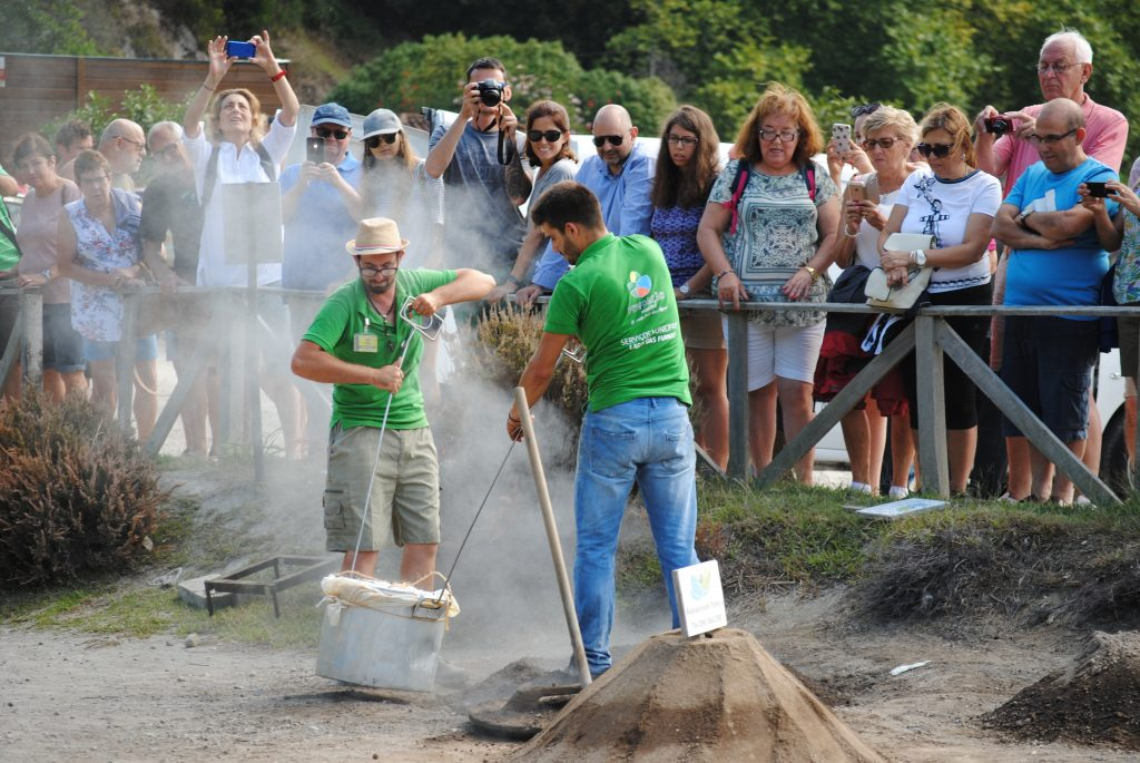 "Cooking the famous ""Cozido"" in Furnas on Sao Miguel Island, Azores"