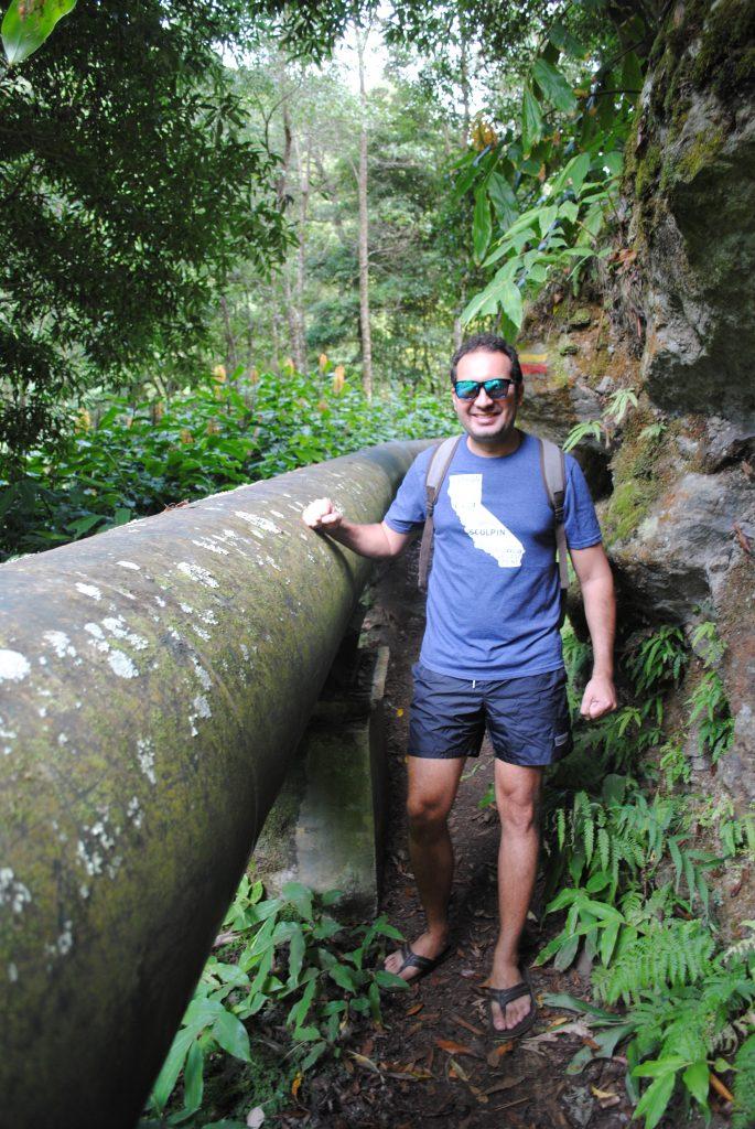 Hiking to Salto do Cabrito waterfall, Azores