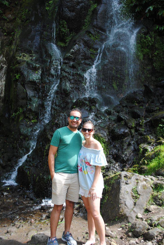 Waterfall at Ribeira dos Caldeirões