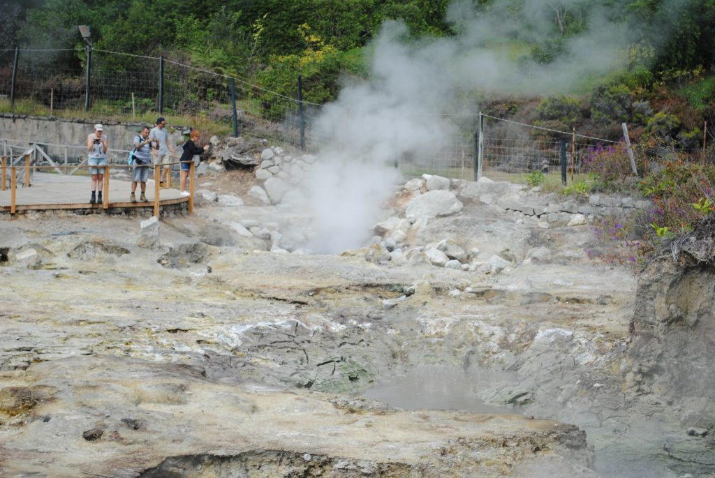 Geyser in Furnas on Sao Miguel Island, Azores