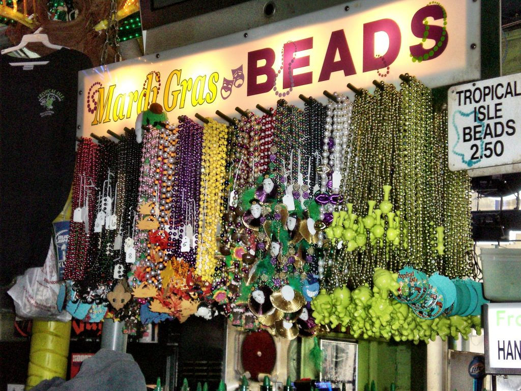 Mardi Gras beads in New Orleans