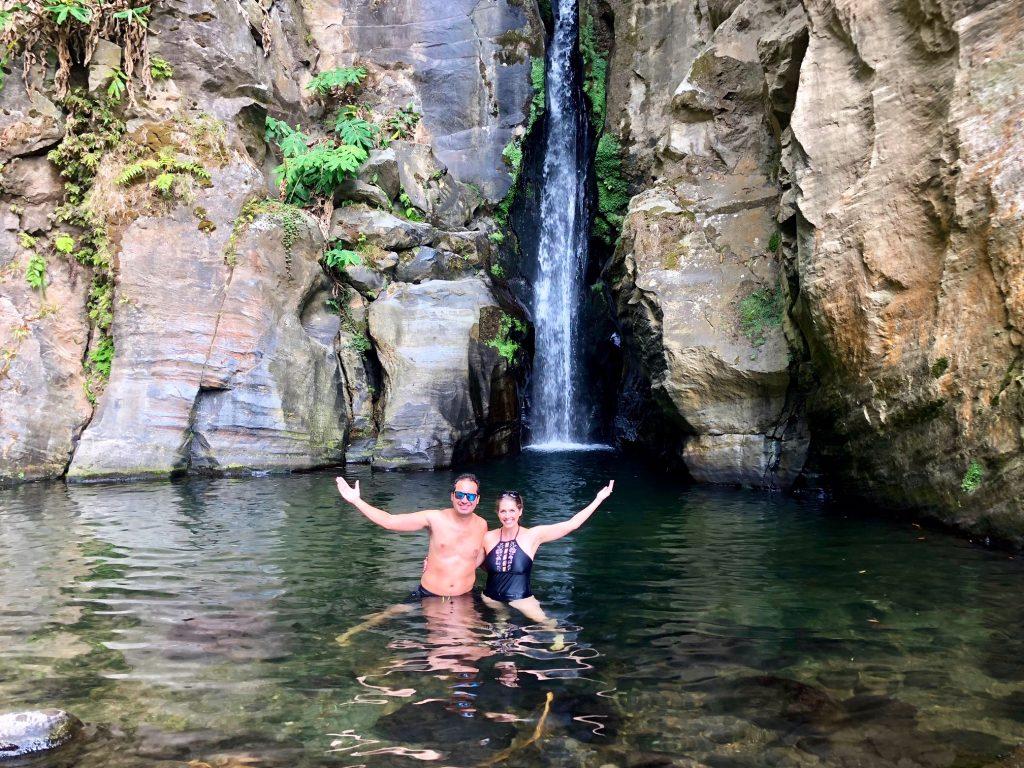 Salto do Cabrito waterfall, Sao Miguel Island, Azores