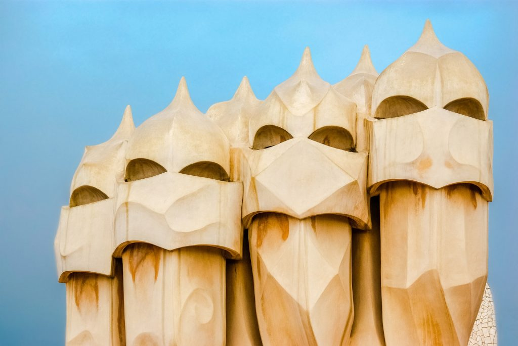 Casa Mila, a Gaudi designed building in Barcelona