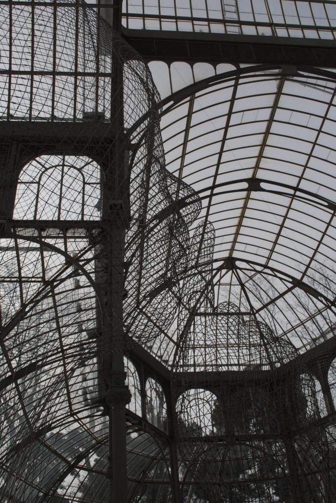 Art exhibition in the Glass Palace, Madrid, Spain