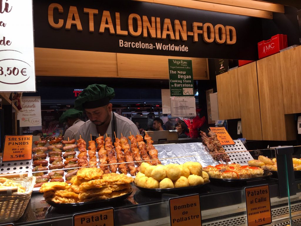 Catalonian food at La Boqueria Market