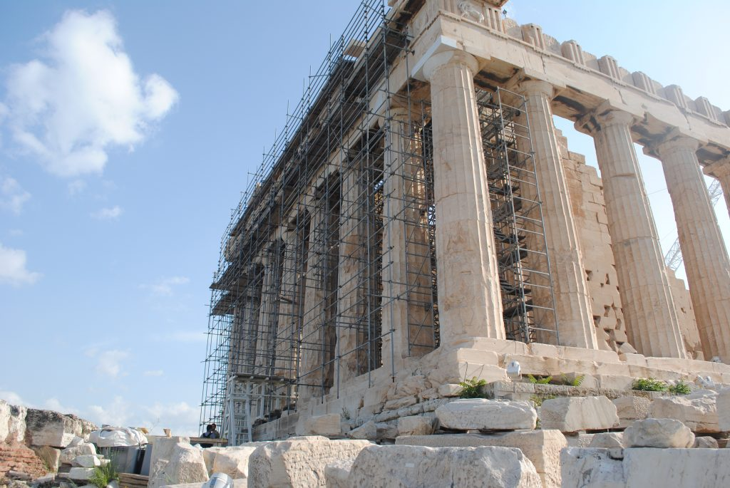 Restoration at the Acropolis of Athens