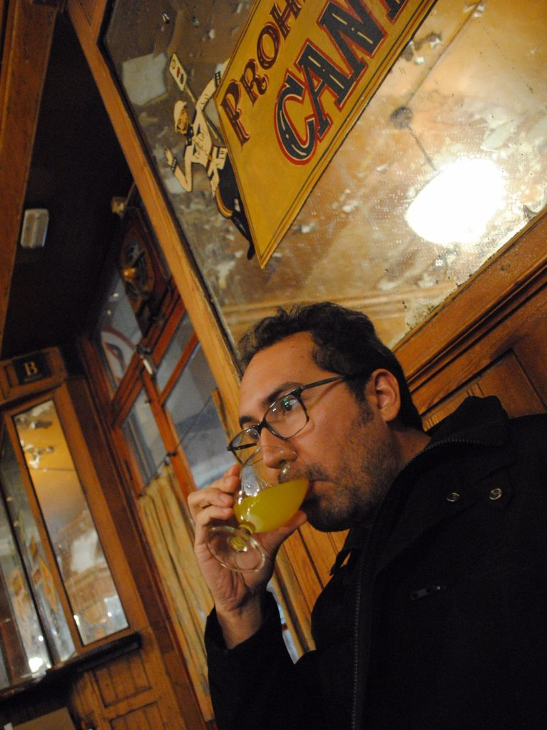 Drink absinthe at Bar Marsala in Barcelona