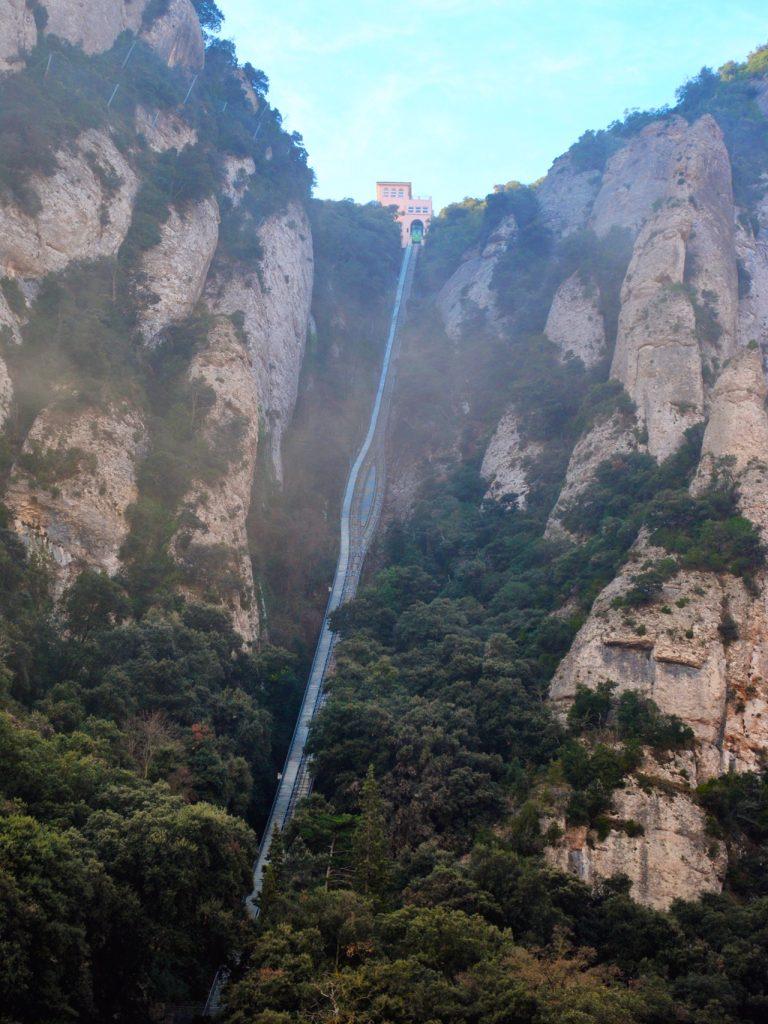 Funicular de Sant Joan at Montserrat