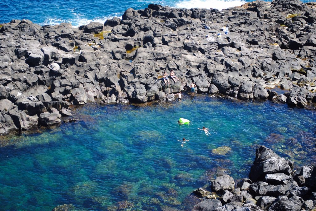 Go swimming at Miradouro do Frade, Azores