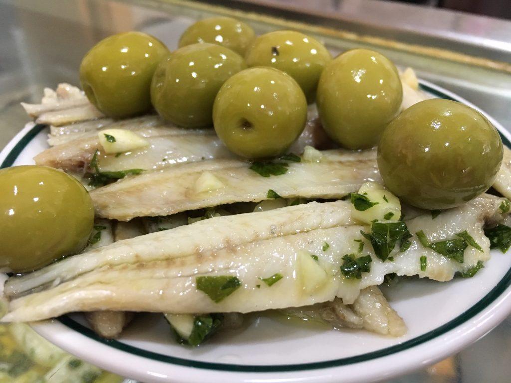 Eat sardines in Madrid at Los Caracoles