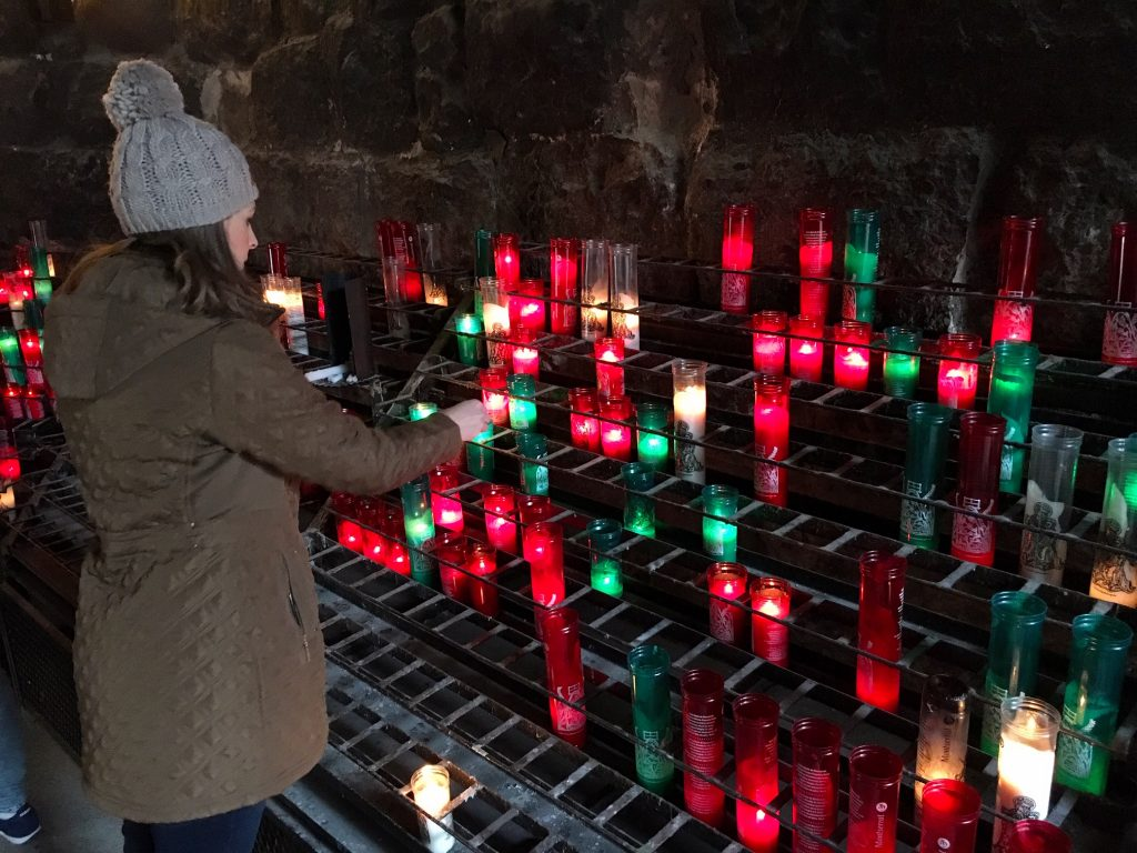 Light a candle at Montserrat Monastery