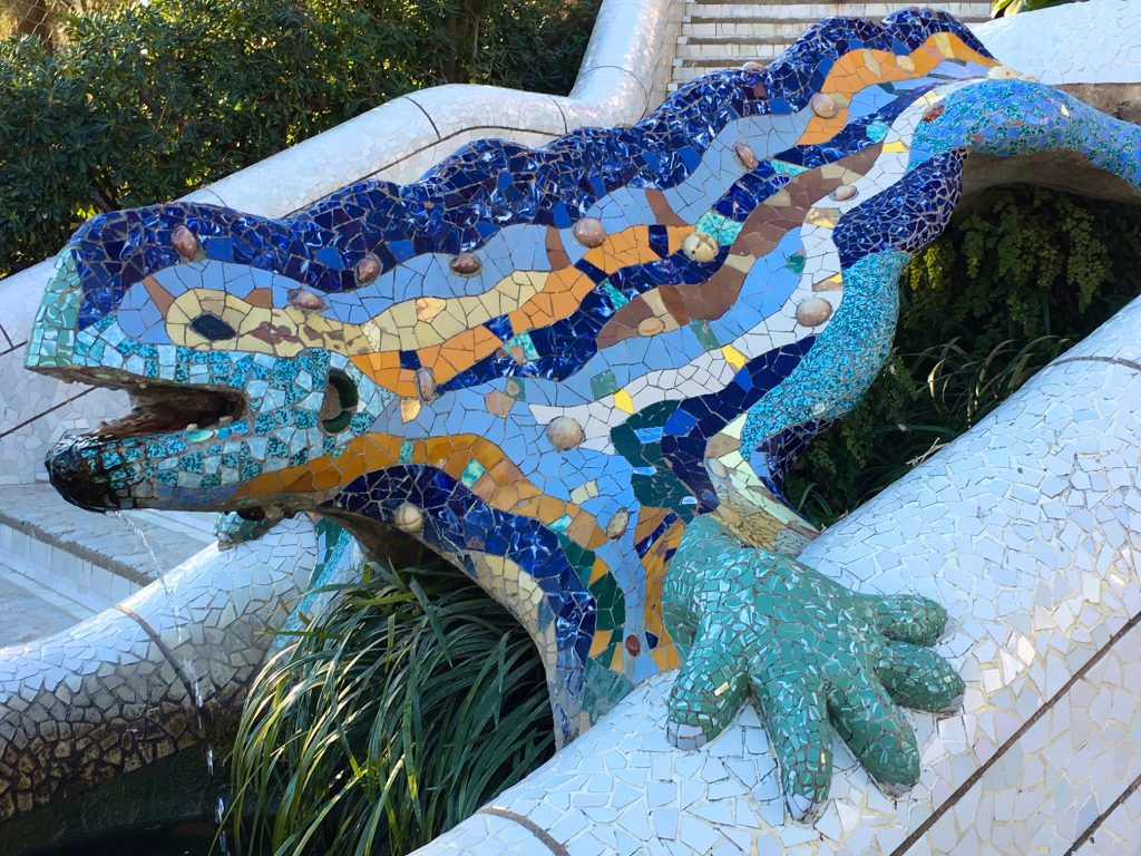 Lizard statue at Park Guell, Barcelona