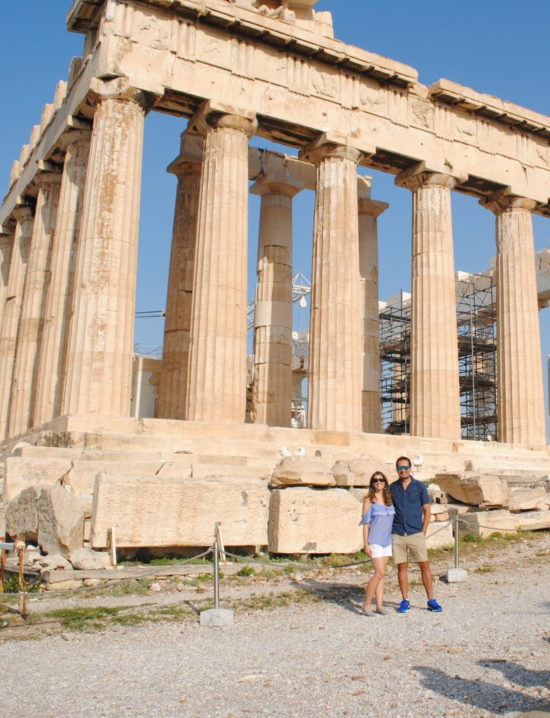 Beside the Parthenon in Athens, Greece