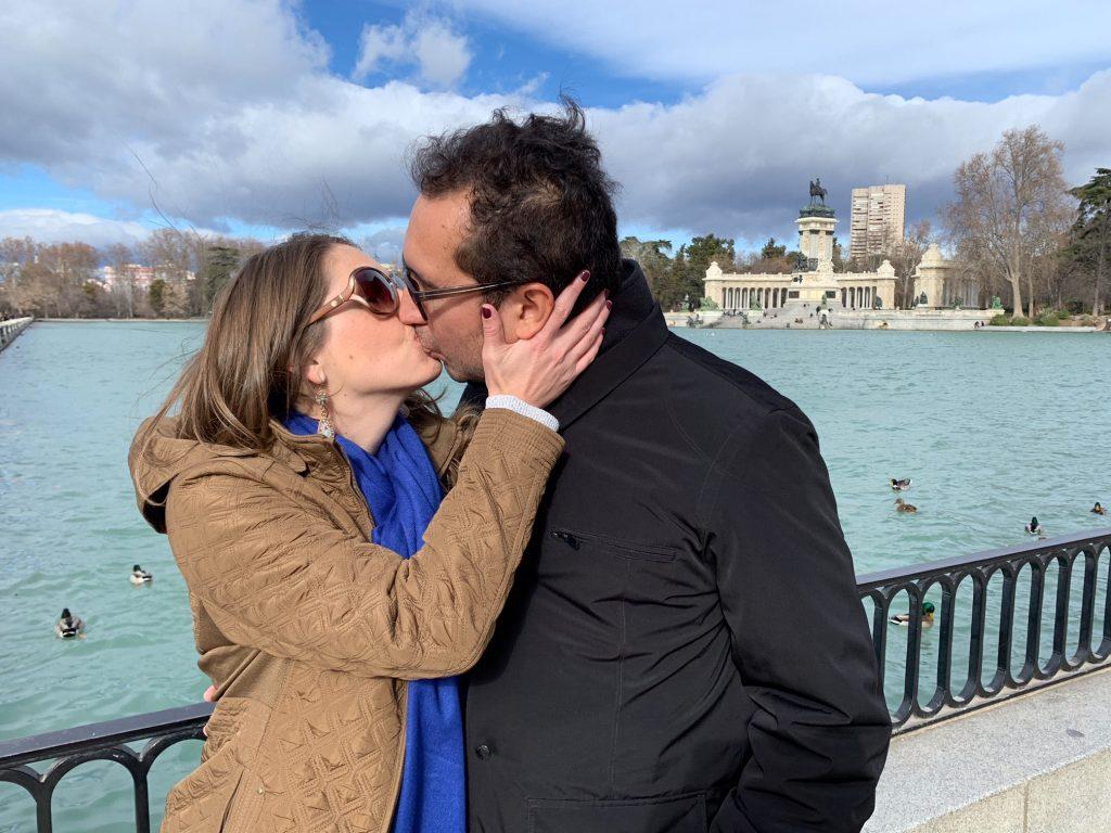 Romance in Madrid's Retiro Park