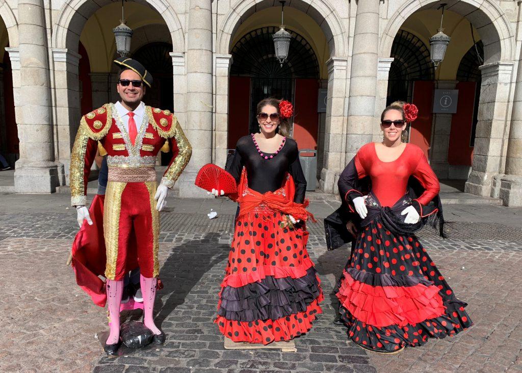 Take fun photos in Plaza Mayor, Madrid