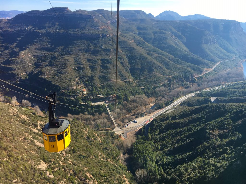 Take the cable car to Montserrat Monastery