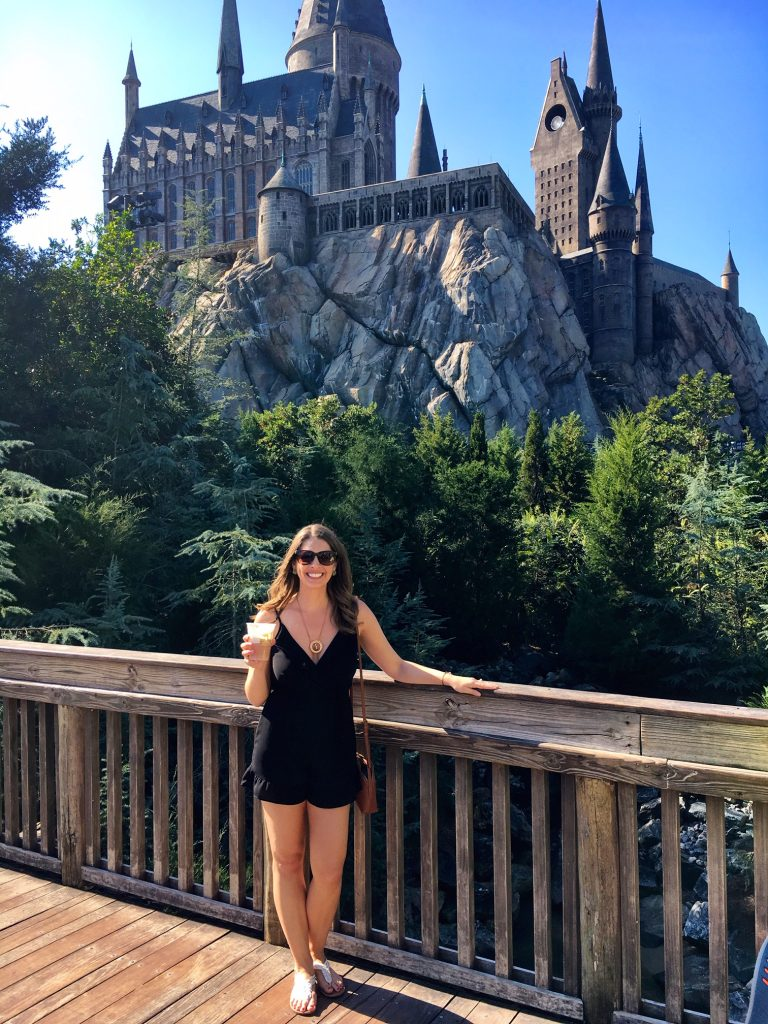 Must-do at Universal Orlando: Take your photo in front of Hogwarts
