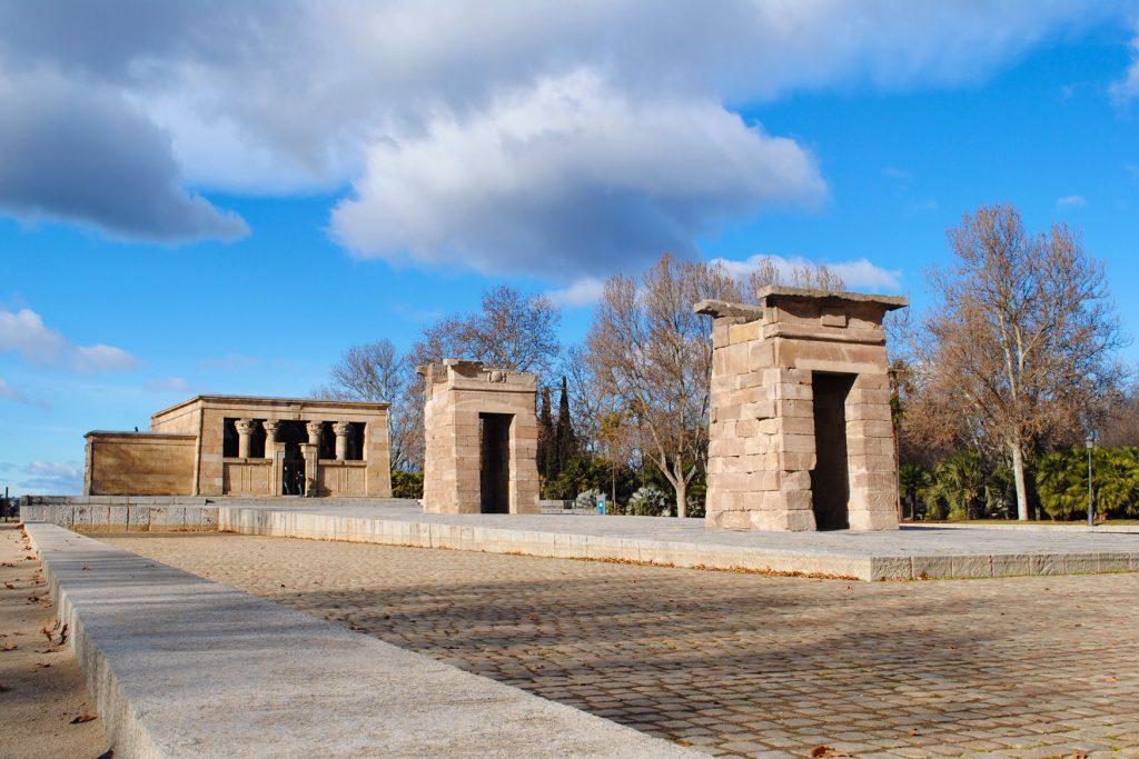 Temple of Debod in Oeste Park, Madrid