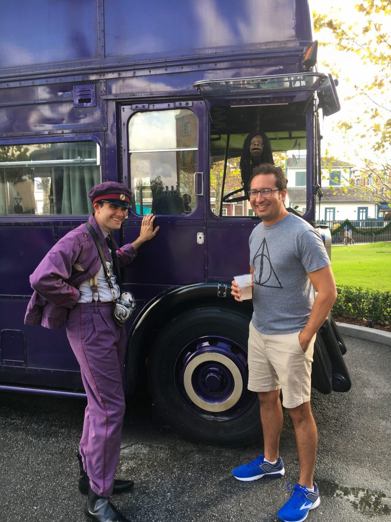 Talk with the Knight Bus Conductor at Universal Orlando
