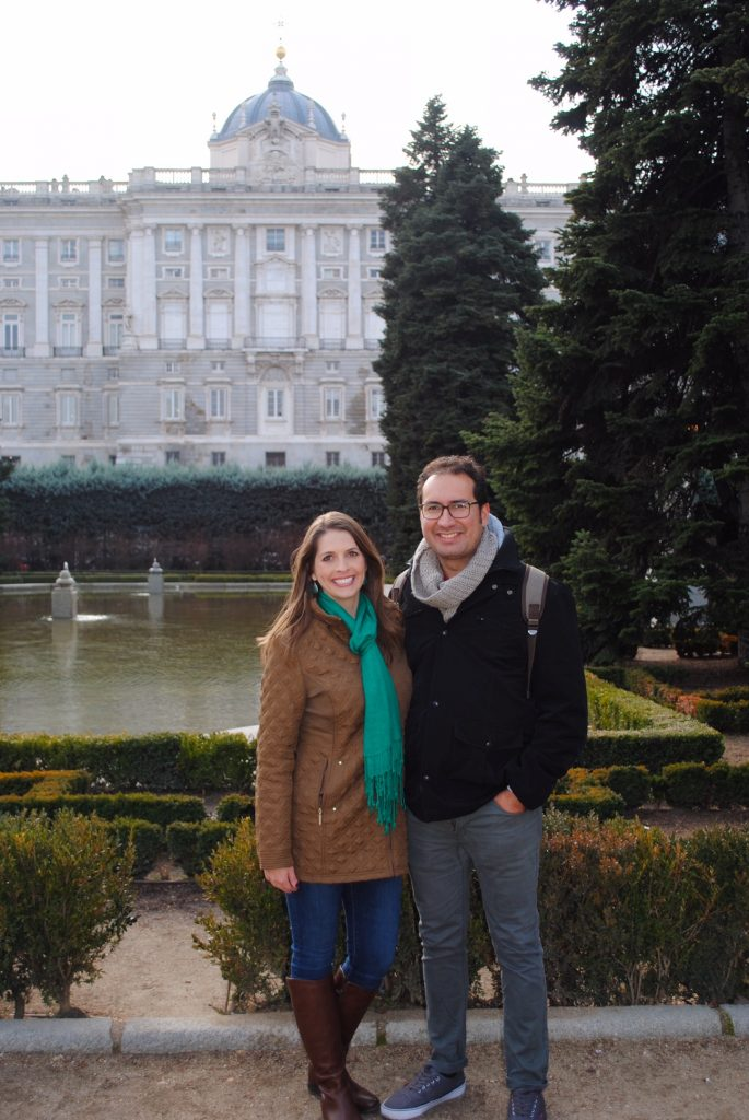 Wandering the Sabatini Gardens at Palacio Real, Madrid