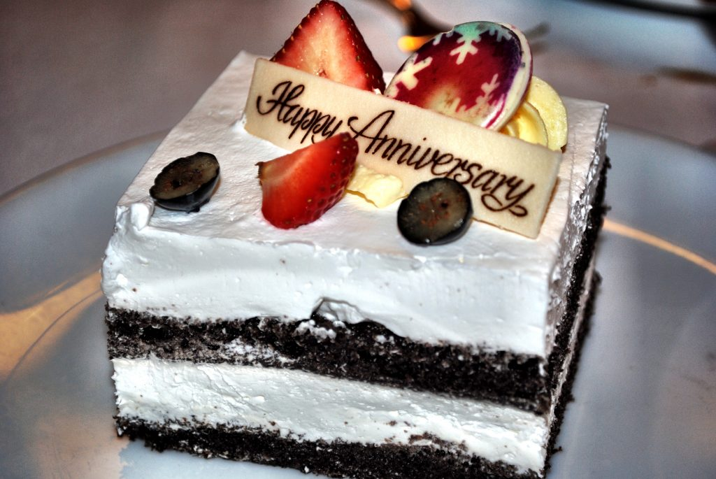 Anniversary Cake on a Cruise Ship
