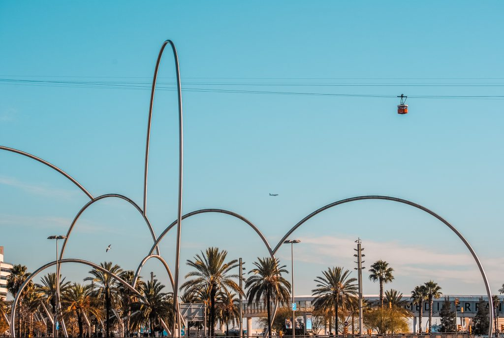 Ride the cable car in Barcelona
