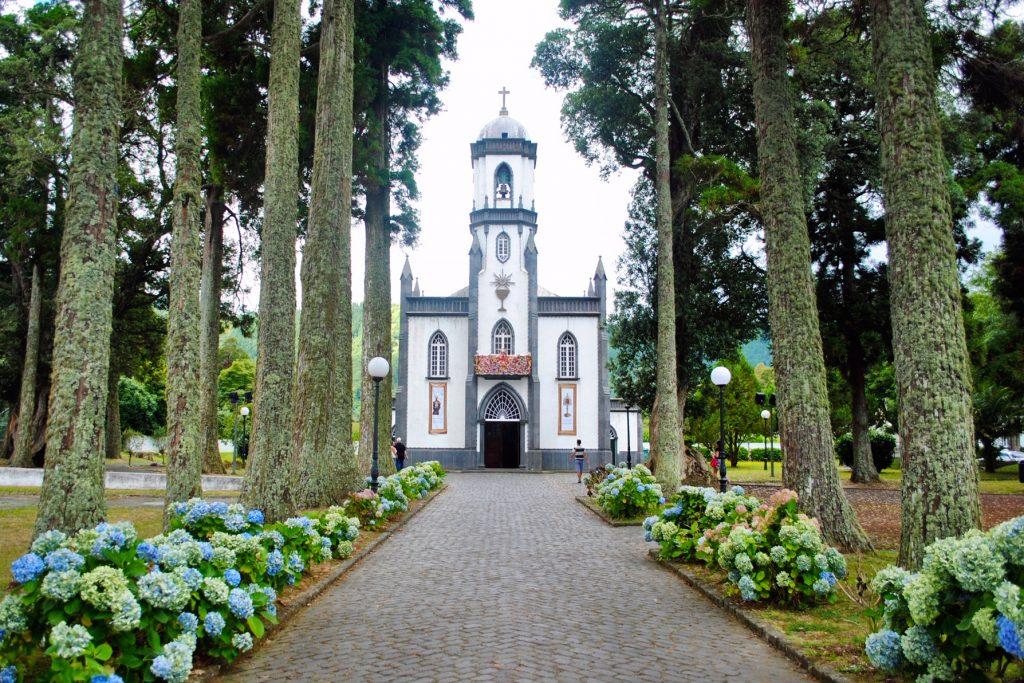 Sao Nicolau Church in Sete Cidades, Azores
