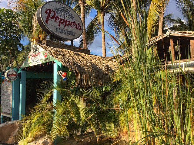 Eat at Pepper's in Grand Cayman