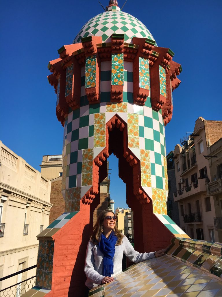 On the roof of Casa Vicens in Barcelona