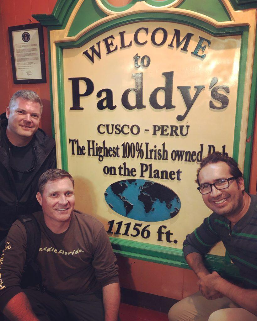 Paddy's Irish pub in Cusco, Peru