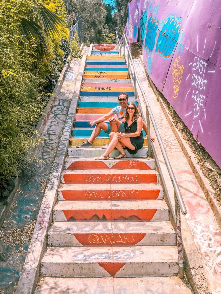 Painted stairs in Silver Lake, Los Angeles