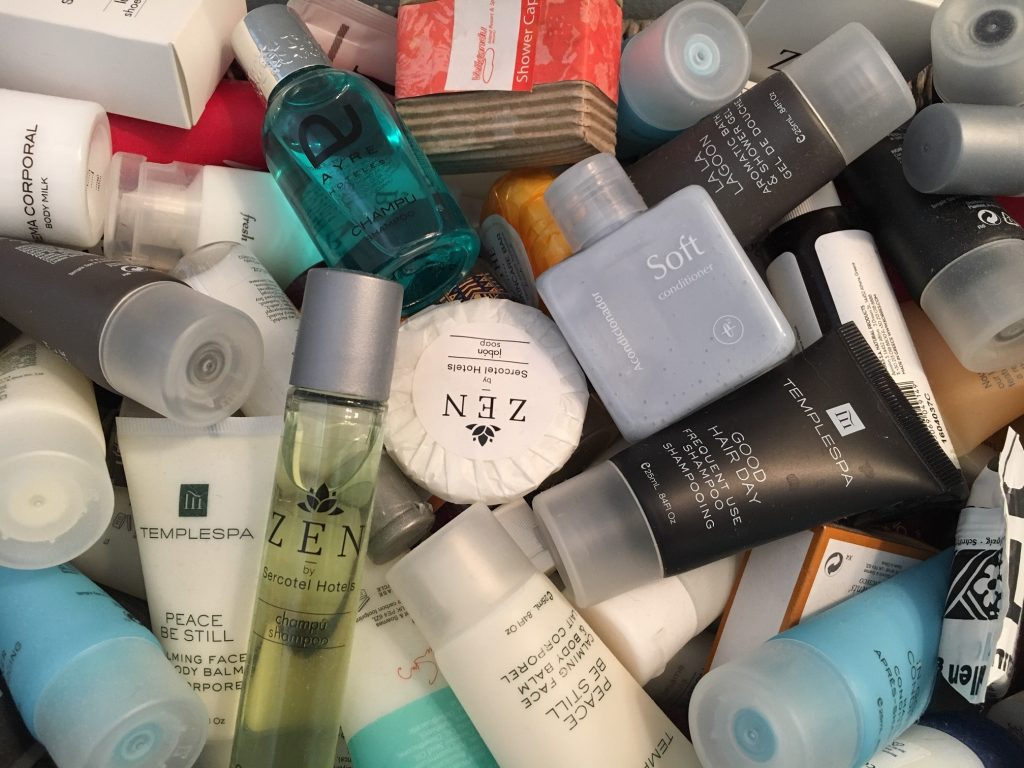 Tips for traveling green: avoid the toiletries in hotels