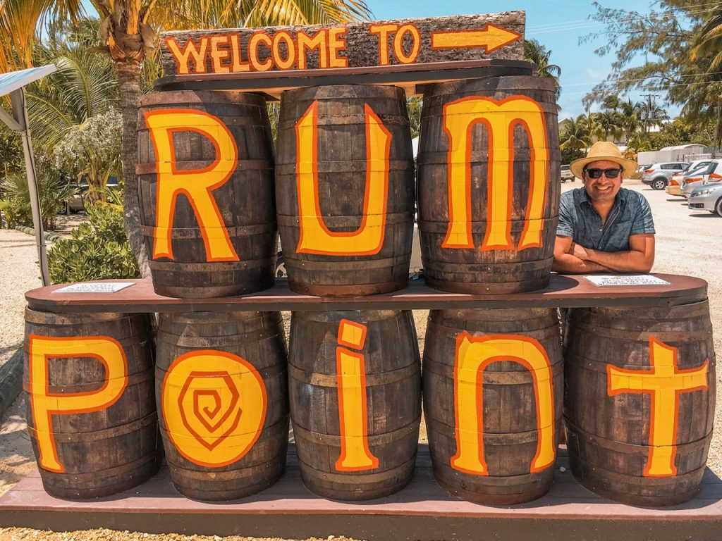 Welcome to Rum Point sign in Grand Cayman