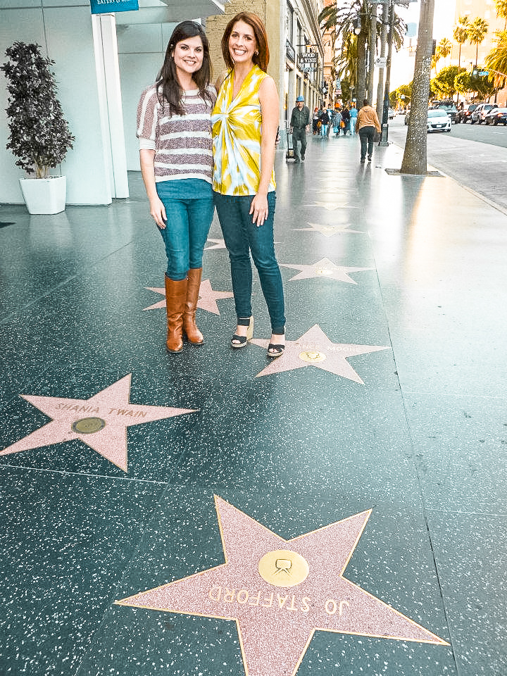 Strolling the Hollywood Walk of Fame