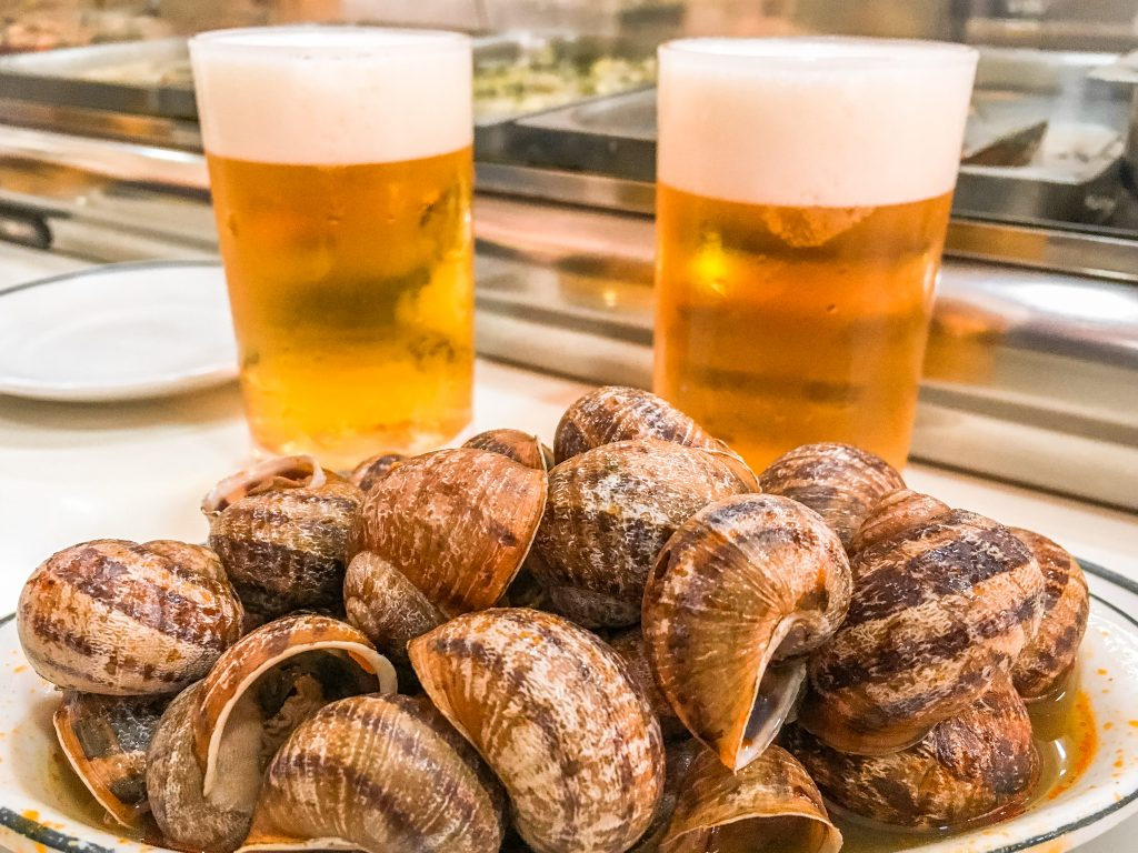 Try snails in Madrid at Los Caracoles