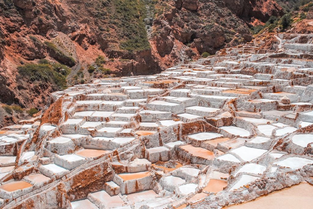 View of Peru's Maras Salt Mines
