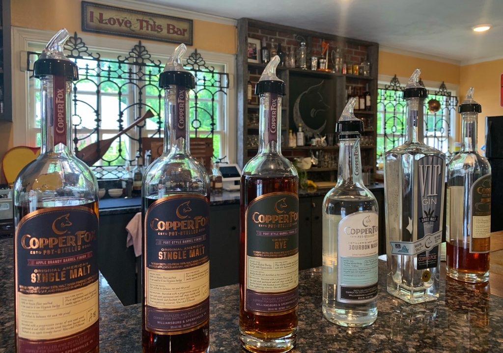 Copper Fox Distillery in Williamsburg, Virginia