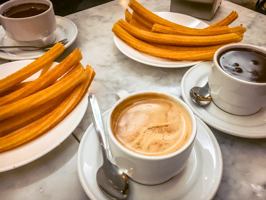 Eat churros and chocolate at Chocolateria San Gines