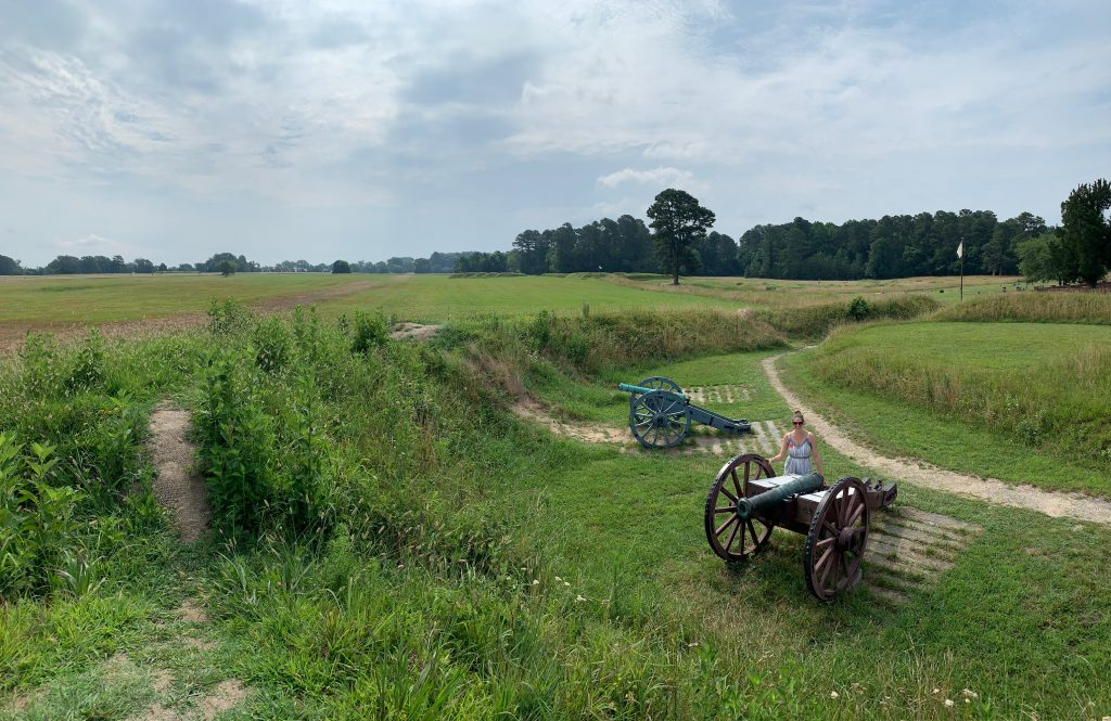 Second Allied Siege Line, a stop on the Yorktown Battlefield Tour