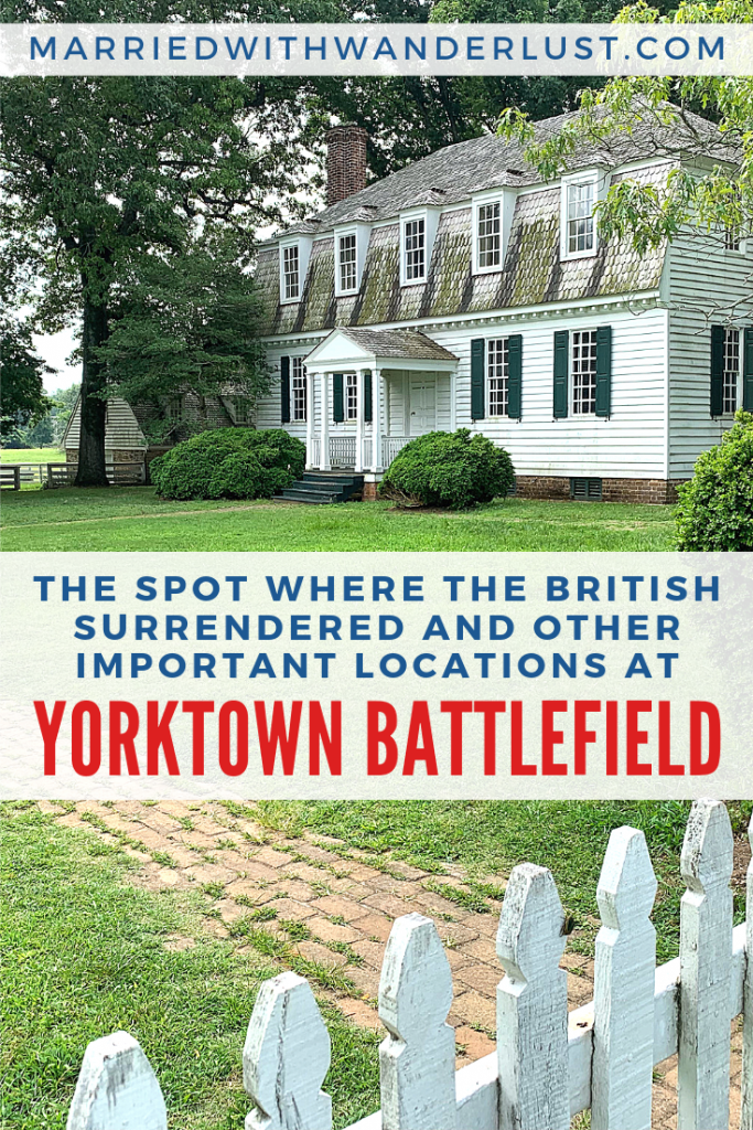 The spot where the British surrendered at Yorktown Battlefield