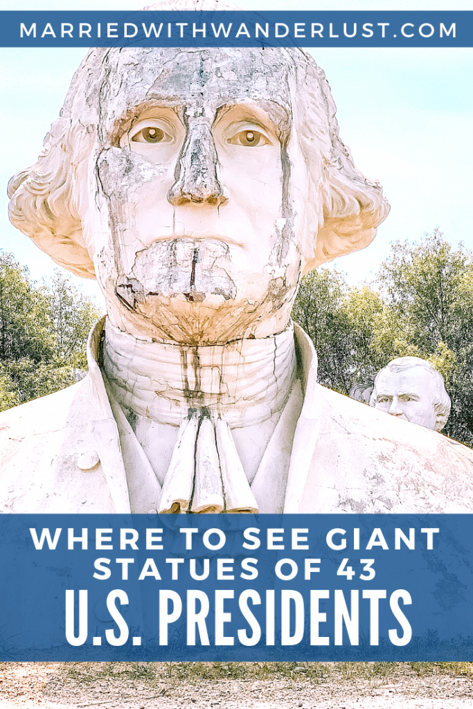 Where to see giant, crumbling statues of U.S. Presidents