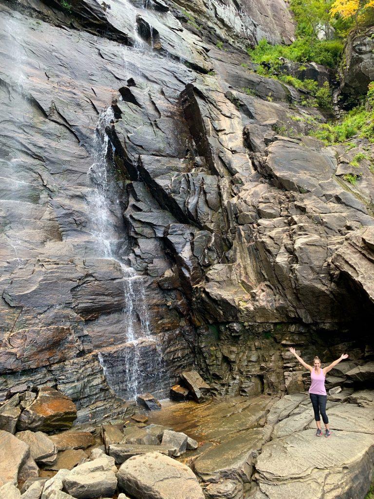 Hickory Nut Falls in Chimney Rock Park, NC