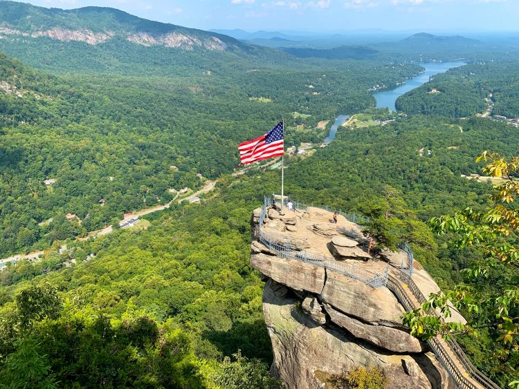 Chimney Rock Park near Asheville, North Carolina