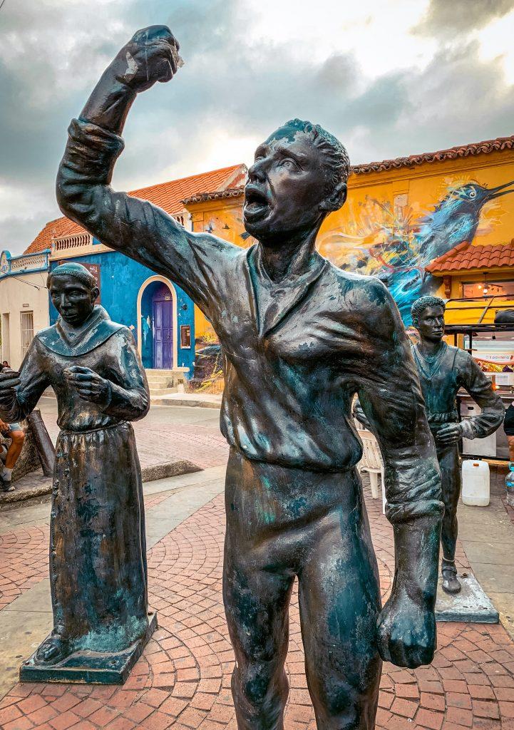 Statue of Pedro Romero in Getsemani, Cartagena