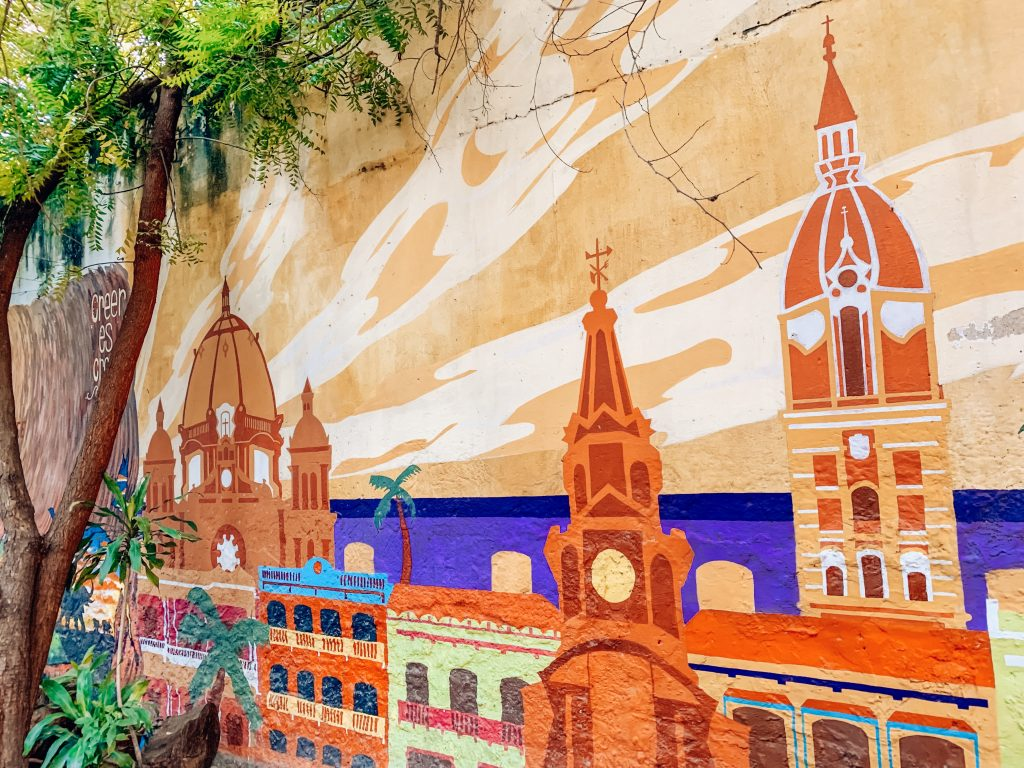 Cartagena mural in Getsemani