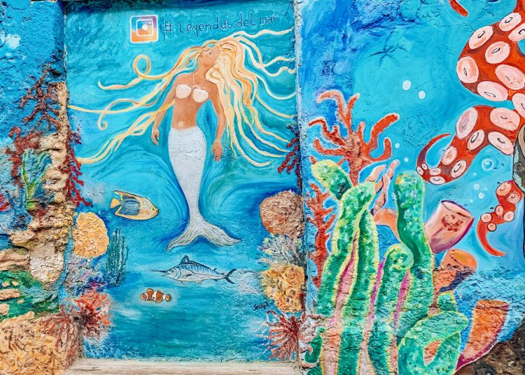Mermaid mural in Getsemani