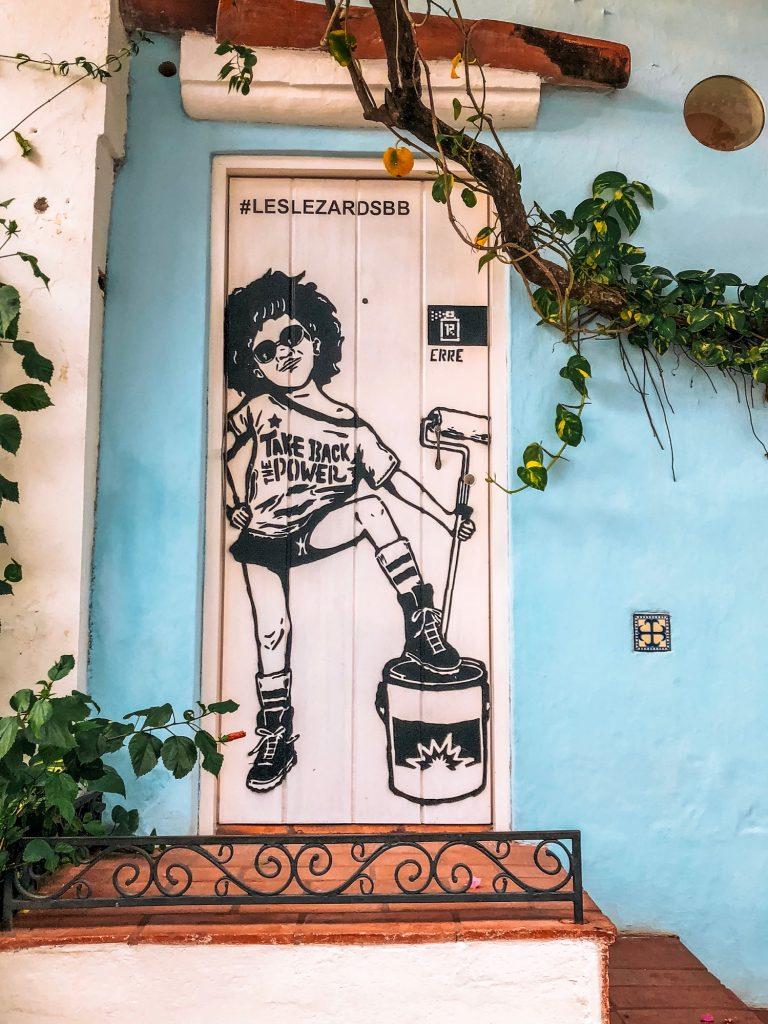 Street art in Getsemani in Cartagena, Colombia