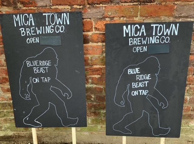 Blue Ridge Beast at Mica Town Brewing